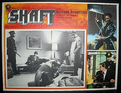 "Shaft "" Richard Roundtree "" 1971 Original Mexican lobby card"