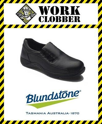Blundstone Womans Black Leather Elastic Sided Steel Cap Shoe 743 NEW IN BOX!