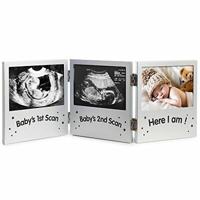 VonHaus Triple Picture Frame for Keepsake Ultrasound/Sonogram Images and Baby...