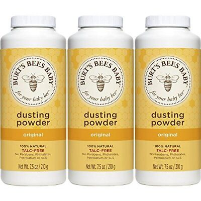 Burt's Bees Baby 100% Natural Dusting Powder 7.5 Ounces Pack of 3 Packaging M...