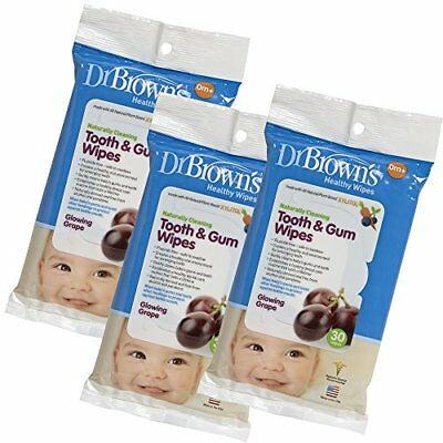 Dr. Brown's Tooth and Gum Wipes 30 Count 3-Pack