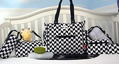 Grand Tribeca - 9 Piece Diaper Bag Tote Set by SOHO COLLECTIONSLimited time o...