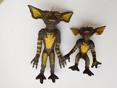 "GREMLINS Bendable TWO Figures 6"" & 4"" Warners Bros LJN 1984  *  EXCELLENT"