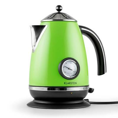 2200W Electric Cordless Kettle 1.7L Green Fast Water Boiler Stainless Steel