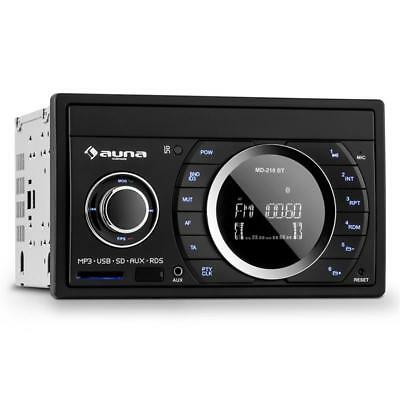 Double Din Head Unit 4X75W Max Output Fm Usb Sd Aux In Remote Mounting Material