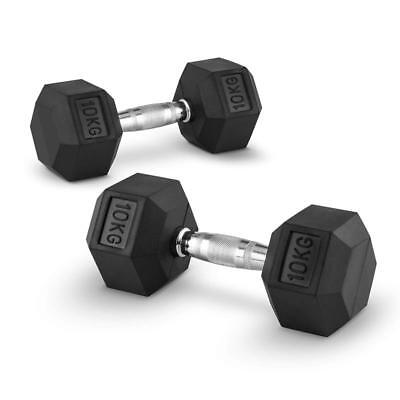 2 X 10 Kg Dumbbell Weights Set Home Gym Cross- Training Body Building Heavy