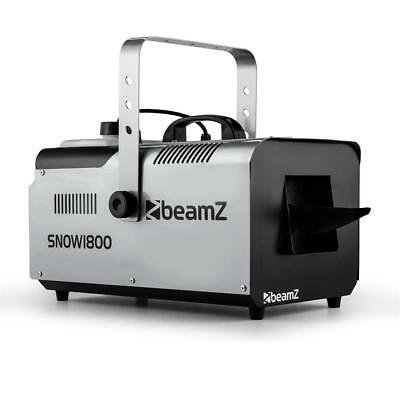 Beamz Snow1800 Snow Machine 2.5 Litre 1800W Special Stage Effects Xmas Party Fun