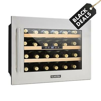 Klarstein Vinsider 24 Bottles Wine Refrigerator  Cooling Zones Small Fridge