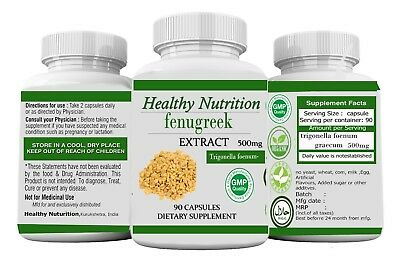 Fenugreek Extract50% Fenugreek Seed Extract 500mg 90 Capsules-Improved Testofen
