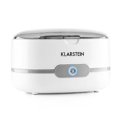 Klarstein Ultra Sonic Cleaning Tank Basket Coins Jewellry Heater Timer White