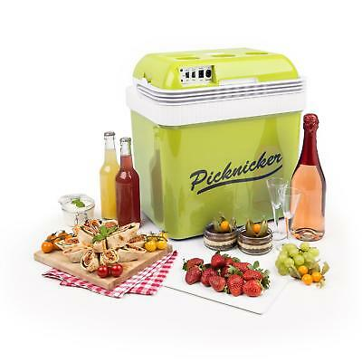 Klarstein Thermo Cool Picnic Box Outdoor Fun Warm Chill Food Drinks 24 L Green