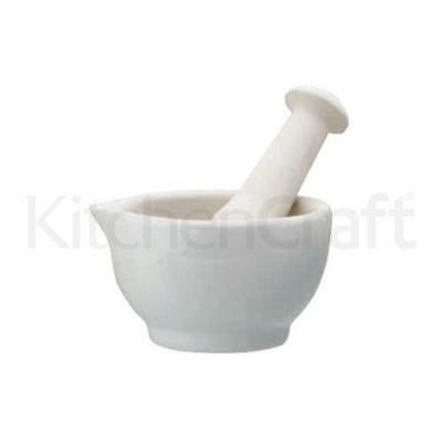 Home Made Ceramic Medium 10cm Mortar and Pestle
