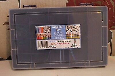 Purple Organiser Box With 13 Compartments