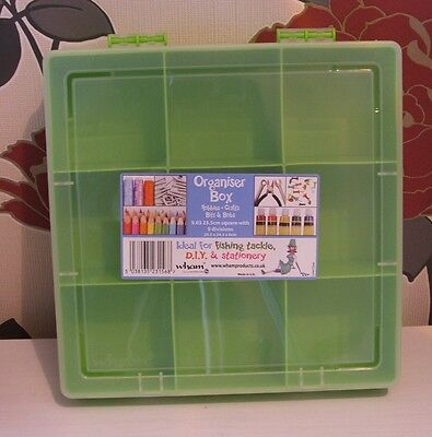 Green Organiser Box With 9 Compartments