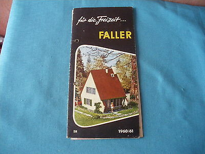 468 H Faller 1960/61 Brochure 14 Pages Houses Models Figurines Aircraft