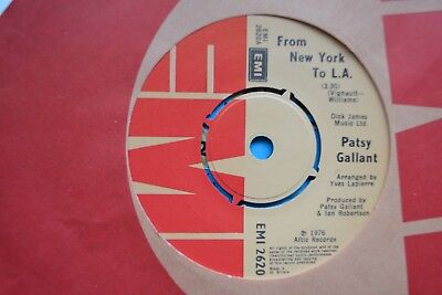 """Patsy Gallant     From New York To  L.a  /   Angie        7""""  Vinyl   Vg/ex Con"""