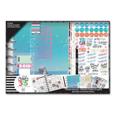NEW Classic Happy Planner 12 Months Undated Fitness Box Kit