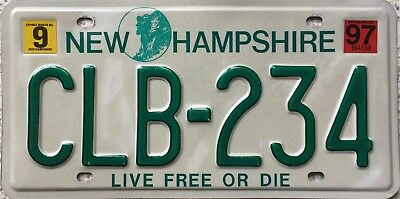 GENUINE American New Hampshire Old Man Graphic USA License Number Plate CLB 234