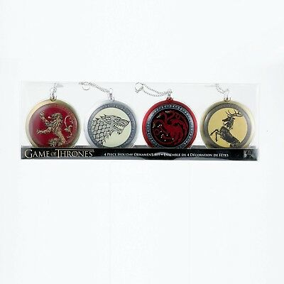 Game Of Thrones Shield Ornament Set Of 4 Officially Licensed