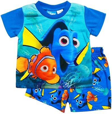 New Sz 1-5 Kids Summer Pyjamas Boys Finding Nemo Sleepwear Pjs Nightie Pj Dory