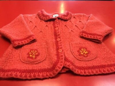 Baby Girls Boots Vintage Cardigan Jacket 3-6 Month Retro Wool