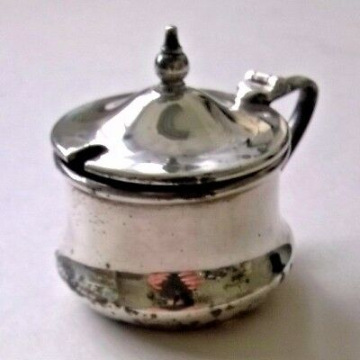 Vintage Silver Plated Mini Cruet Pot Display Table Decoration Home Collectible