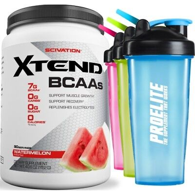 Scivation Xtend BCAA Intra Workout Powder Electrolytes 90 Servings+ Free Shaker