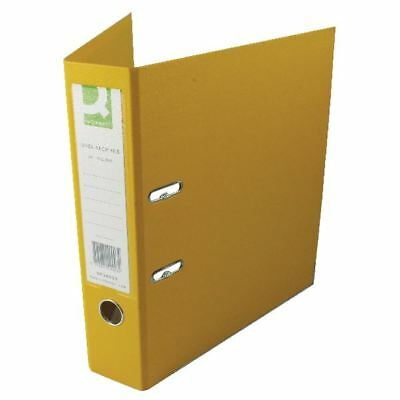 Q-Connect Yellow A4 Polypropylene Lever Arch File (Pack of 10) [KF20023]