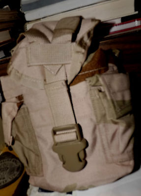 Used MOLLE II DESERT camouflage Military utility pouch / Canteen Carrier
