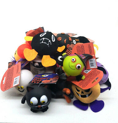 Bulk Pack Halloween  Assorted Pet Dog Squeaky Ball Rubber Fetch Toys
