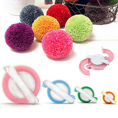 4 Sizes Essential Pompom Maker Fluff Ball Weaver DIY Needle Knitting kit