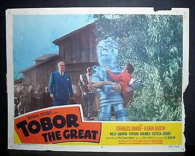 Tobor The Great  1954 11x14 Original U.S lobby card #2 in Toploader