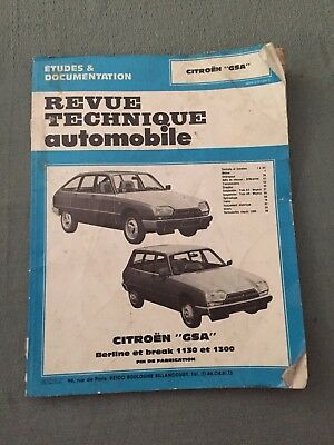 Revue technique automobile - Citroen - Berline et break - années 90 - B8