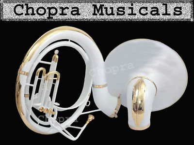 Sousaphone 25 Bell 3 Valve Colored White Carrying Bag n M/P Free & Fast Ship