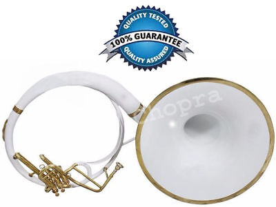 """Christmas Sale Sousaphone 3V Painted 21"""" Bell White Bb 3 Valve with Bag+M/ P"""