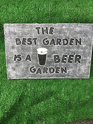 Fibreglass Case And Mould/ Wall Plaque Mould/ The Best Garden Is A Beer Garden