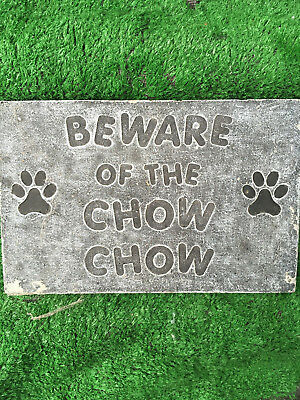 Fibreglass Case And Mould/ Wall Plaque Mould/ Beware Of The Chow Chow