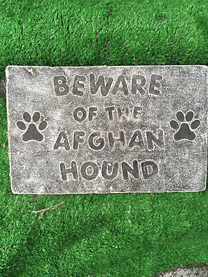 Fibreglass Case And Mould/ Wall Plaque Mould/ Beware Of The Afghan Hound