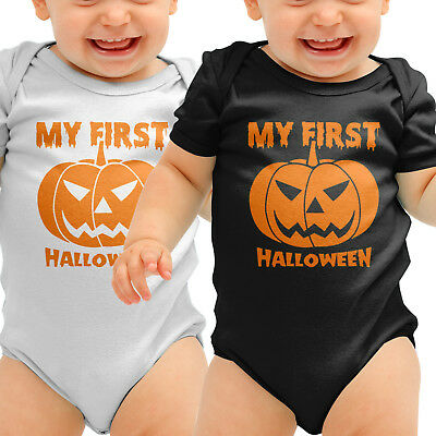 My First Halloween Pumpkin Babygrow Romper Suit Baby Clothing Outfit Mummys B44