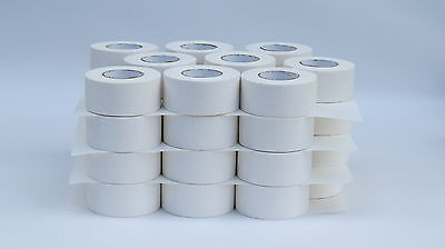 "WHITE CLOTH HOCKEY TAPE  -  (36 ROLLS) - 1.5""x15yds."