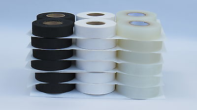 HOCKEY TAPE - CLEAR (12 rolls) / WHITE (12 rolls) / BLACK (12 rolls) 36 TOTAL