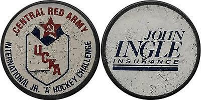 Rare: Cska Moscow Ussr Russia Junior Tour 80Th Ice Hockey Official Game Puck