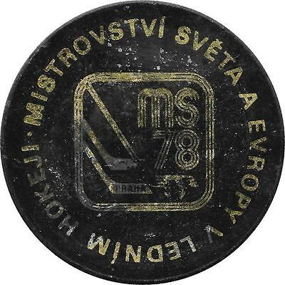 Rare: 1978 World And Europe Championship Prague Ice Hockey Official Game Puck