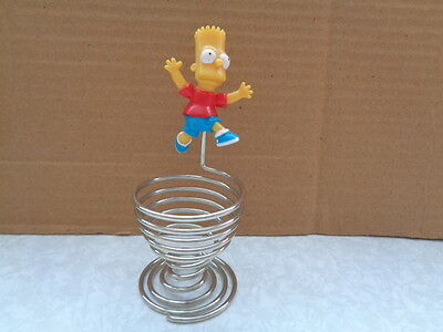 The Simpsons Bart Simpson Wire Egg Cup Collectable Excellent