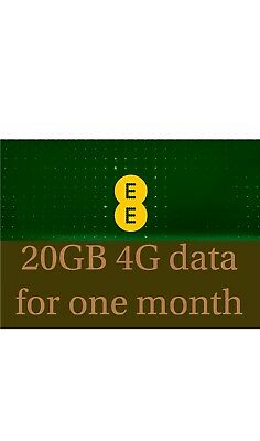 EE PAYG data Simcards pre-loaded with 20GB For 30days From Date Of Shipment