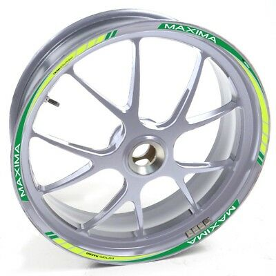 Stickers strip tape vinyl wheel rim silver Kawasaki ZX 6R Green UKEN