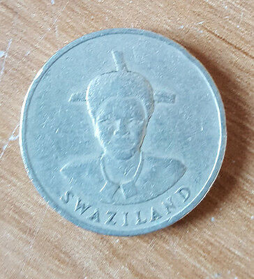 1986 Swaziland 1 Lilangeni Coin Collectable