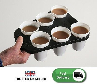 Cup Holder Vending Hot Drink Coffee Carrier Office Tray Stand Serving Carry Rack
