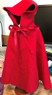 Authentic American Girl Doll Felicity Cardinal Red Cloak~NEW~Retired