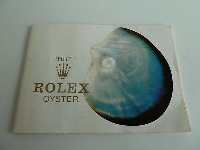 Rolex Oyster Booklet - deutsch -   RAR !
